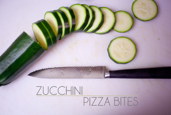 Zucchini Pizza Bites on Benner Fit