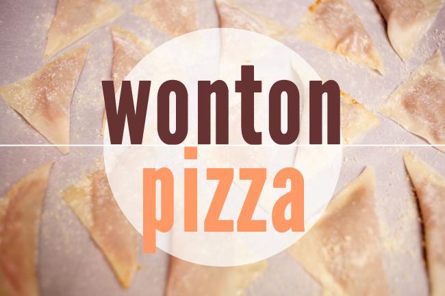 Wonton Pizza
