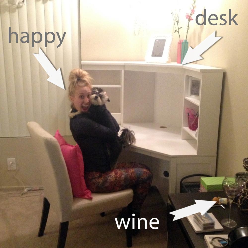 happydeskwine