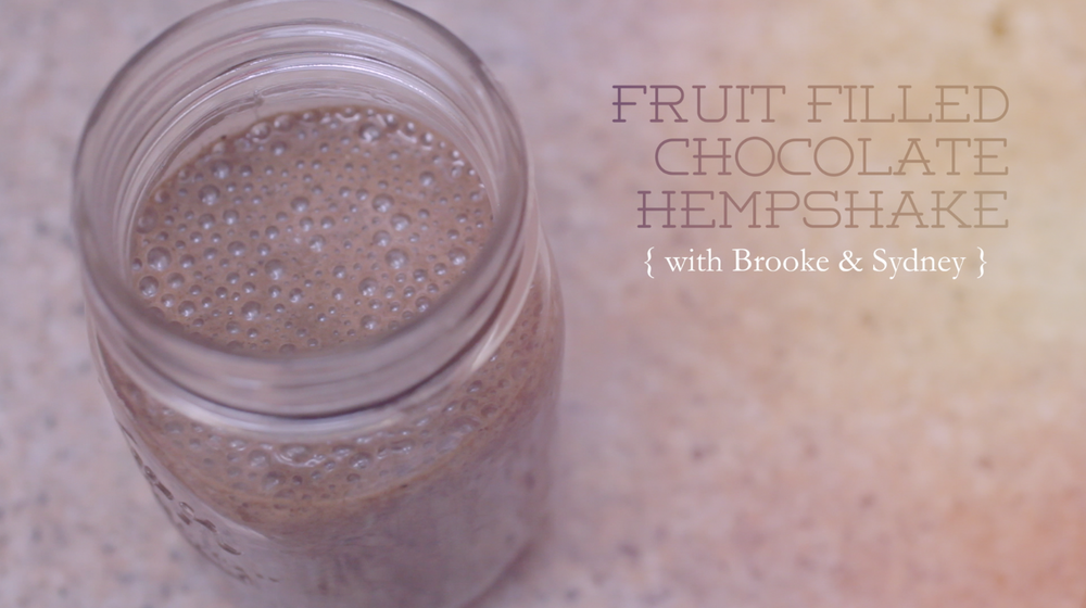 Fruit Filled Chocolate Hempshake on Benner Fit!