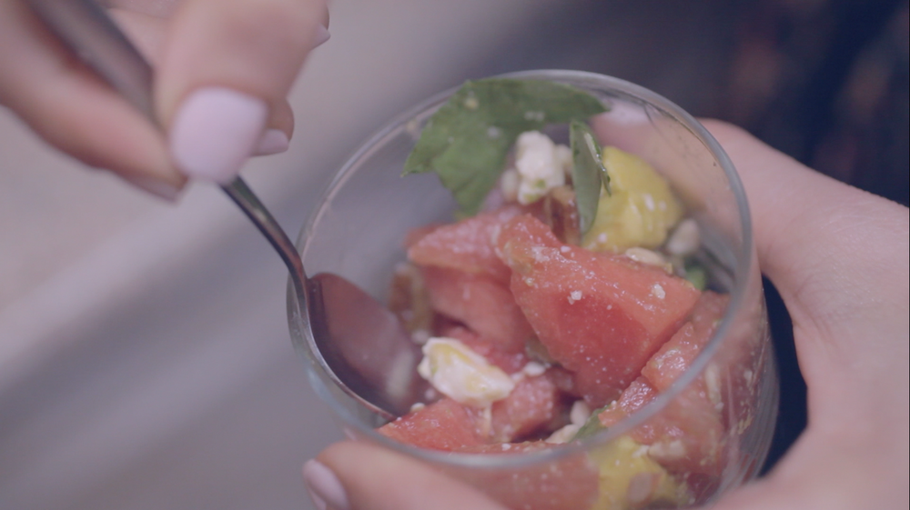 Watermelon Feta Salad on Benner Fit