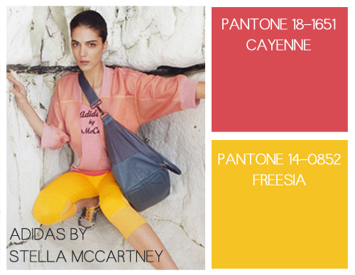 Spring Sportswear + 2014 Pantone Color Palette on Benner Fit: Cayenne and Freesia