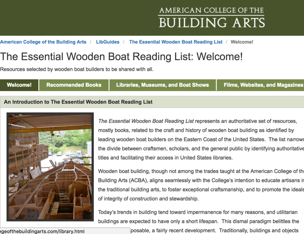 The Essential Wooden Boat Reading List