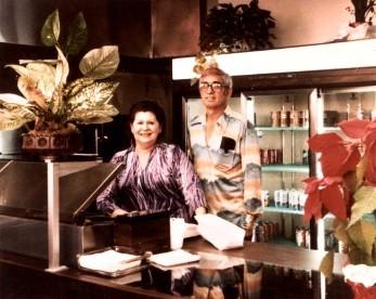 Carla and Danny Garcia at the original Casa Garcia location in 1980