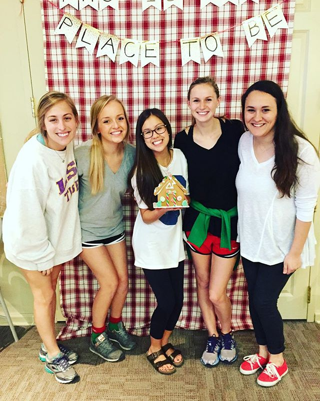 Today was the last PHC meeting for these DG sisters! They wrapped up the year with a Christmas party to celebrate a semester of #DoingGood for PHC! All semester long these sisters had the privilege of working with other girls down the row! Thank you sisters for being such a positive representation of Delta Gamma!🎁🎅🏼