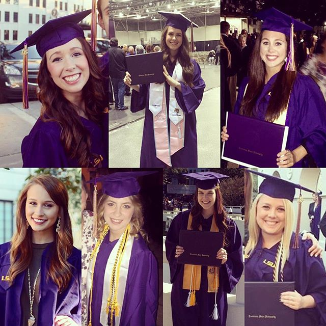 Congratulations to our sisters for graduating this past weekend! We are so proud and wish them the best in their future endeavors! 💜💛