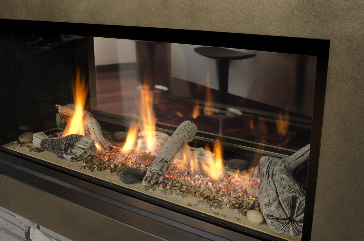 multi sided gas fireplaces u2014 wallace u0027s stove u0026 fireplace