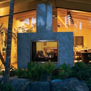 Indoor Outdoor See Through Gas Fireplaces Are A Unique Category These Fireplaces Have One Side That Is Weather Proof And Engineered To Keep The Elements