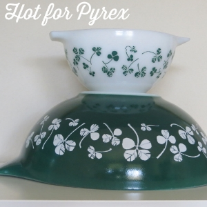 1960 JAJ Clover Leaf  -  Though it looks like a chip and dip set, the Clover Leaf set was actually a salad set.