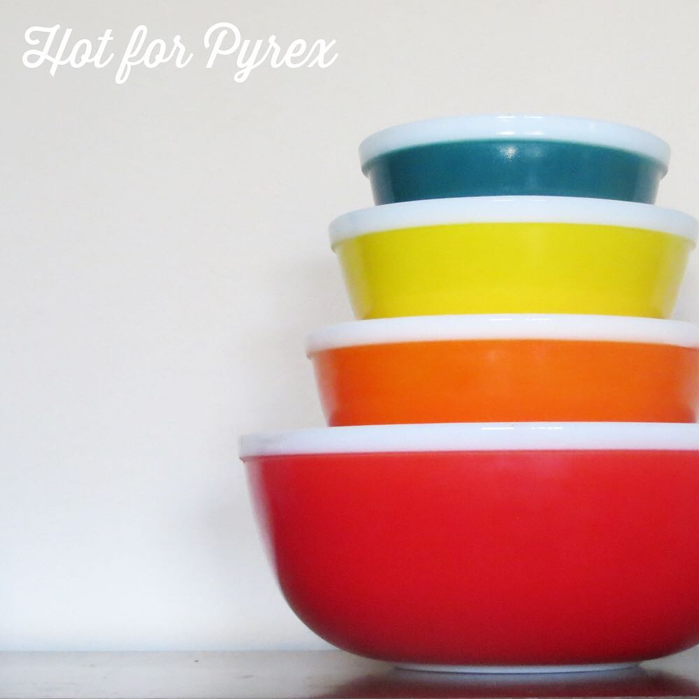 Day 50 of 100 - I thought I would shake things up with a hard to find JAJ Rainbow mixing bowl set. We are half way through the 100 days of Pyrex - only 50 days to go! #100hfp #hotforpyrex #rarepyrex #love #pyrexlove #pyrexpassion #htfpyrex #pyrexaddict #pyrexproblems #pyrexporn