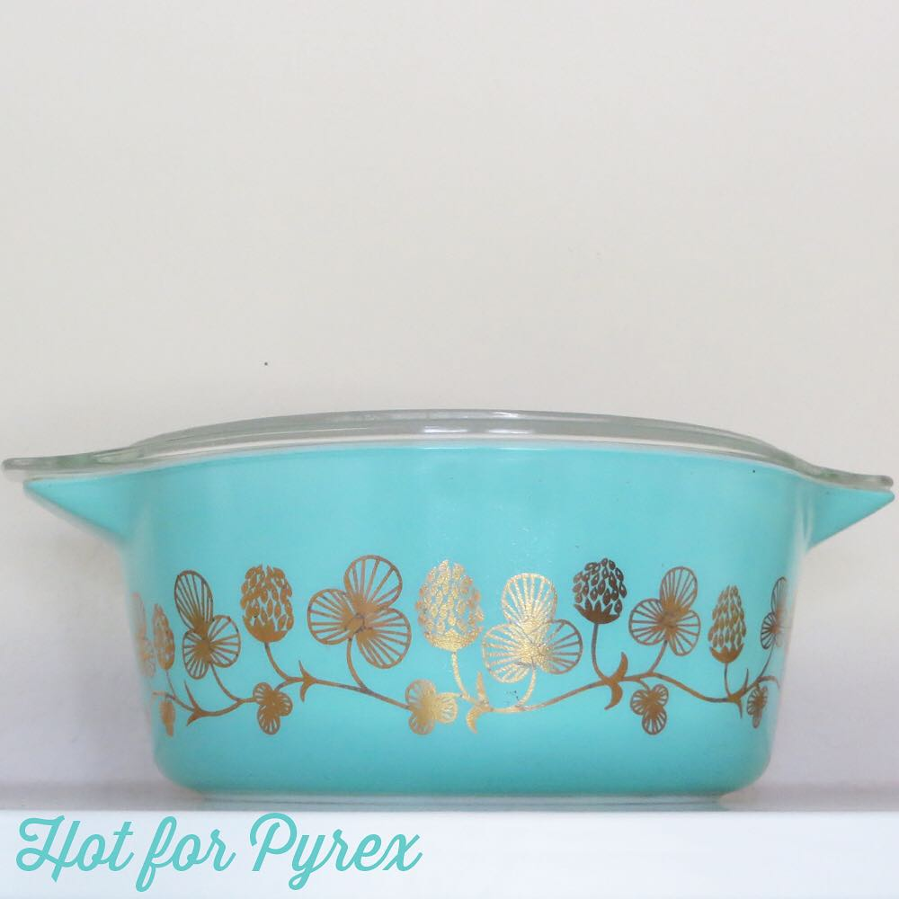 Day 21 of 100 - One of the best things about collecting Pyrex is the people.  I purchased this Cloverberry casserole from Fred (the pyrex king) before I knew who he was.  #100hfp #hotforpyrex #rarepyrex #htfpyrex #pyrexaddict #vintagepyrex #love #cmog #pyrexlove
