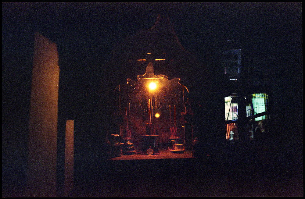 Shrine in local alley.