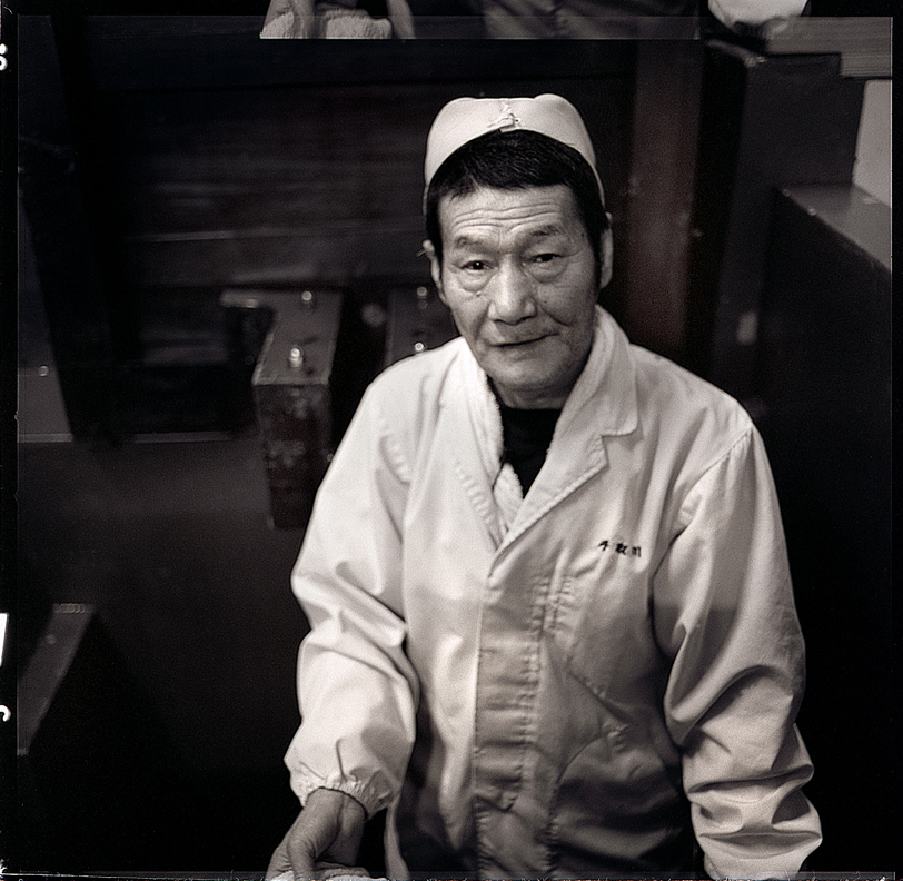 Yamazaki Chicahiro (Chi-chan). The oldest and kindest worker at the Tedorigawa brewery. He is 72 years young.
