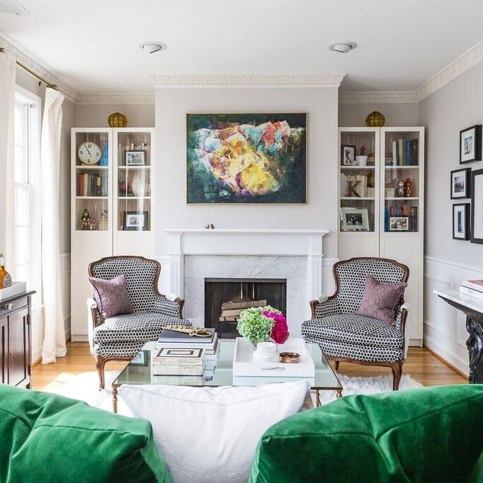 Living Room - DC interior decorator, Kerra Michele Interiors
