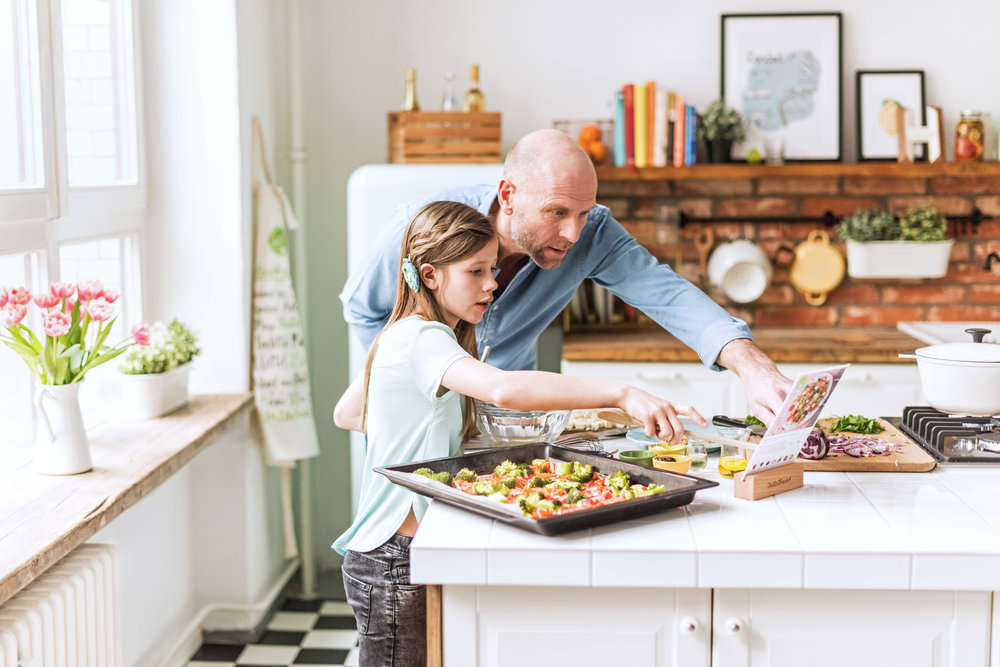 Father & Daughter Cooking HelloFresh