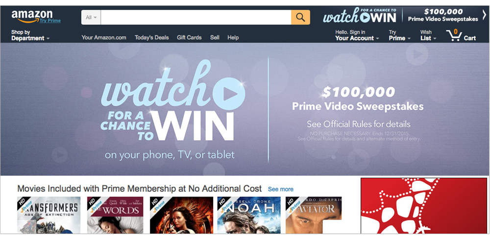 Prime video sweepstakes