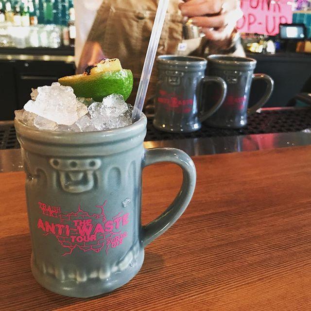 Trash tiki @navystrengthseattle !!#drinklikeyougiveafuck #gintiki
