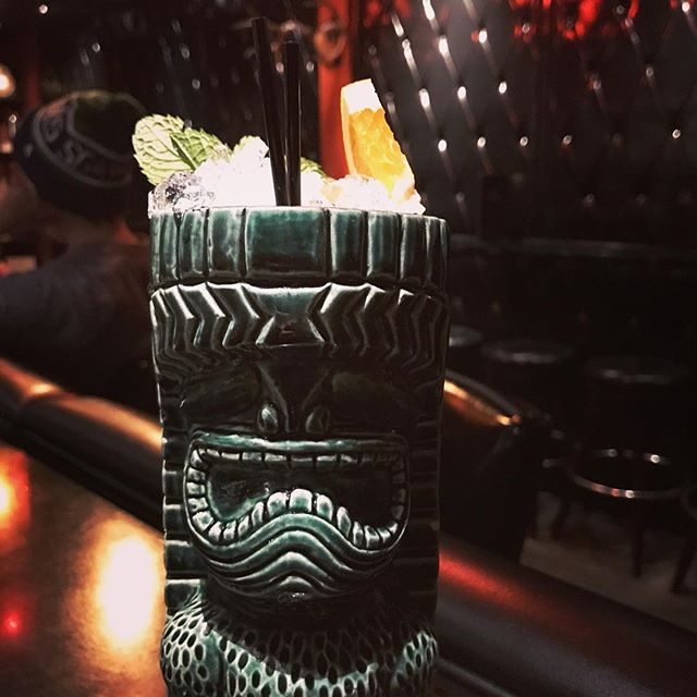 Jade idol mug down at @robroyseattle with the Deers on Parade. @raining_and_pouring can't thank you enough for the mug! @tikirob it's totally stellar. I'll try to do it proud. #tiki #tikimug #diller #robroy #totallymademyday #muchlove
