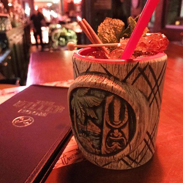 Nevsky grog at the Diller Room!! Thanks for the cocktails @goldeneratropicals  #dillerroom #diller #tiki #rum #cocktails #navygrog #rockcandy