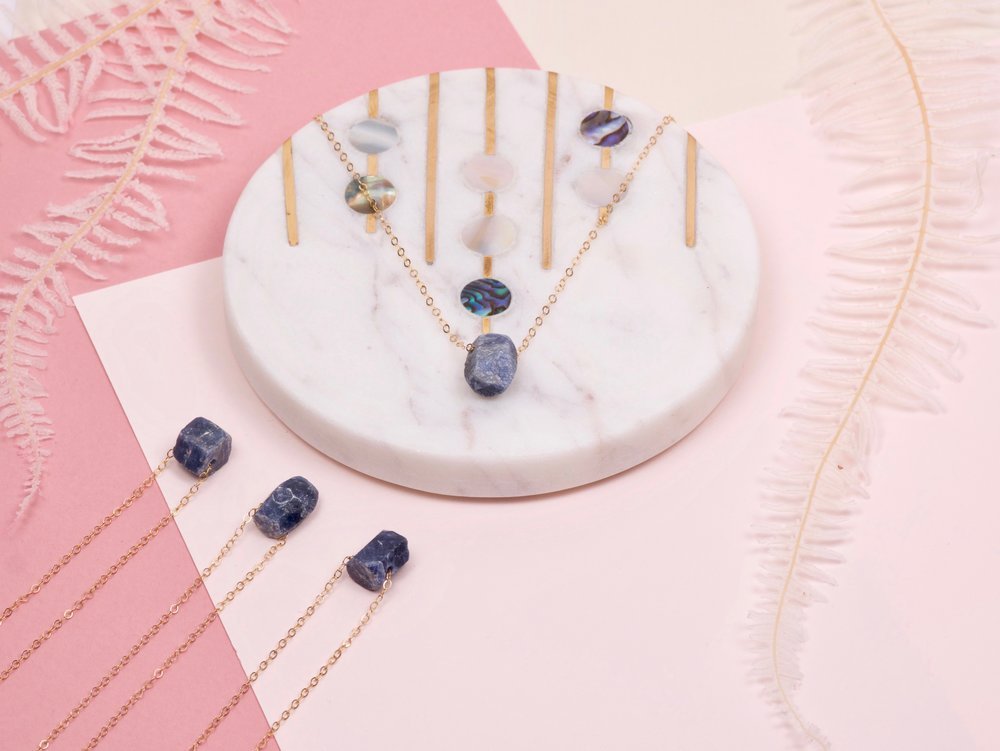 Sapphire Necklace - Margaux Perrier jewelry