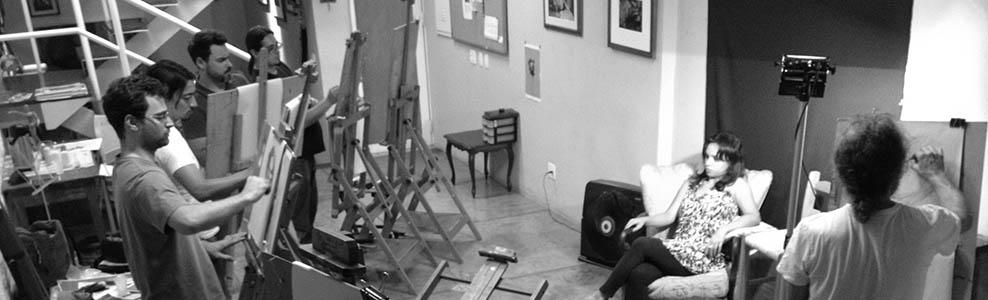 Sessão de retrato no Plein Air Studio, em São Paulo