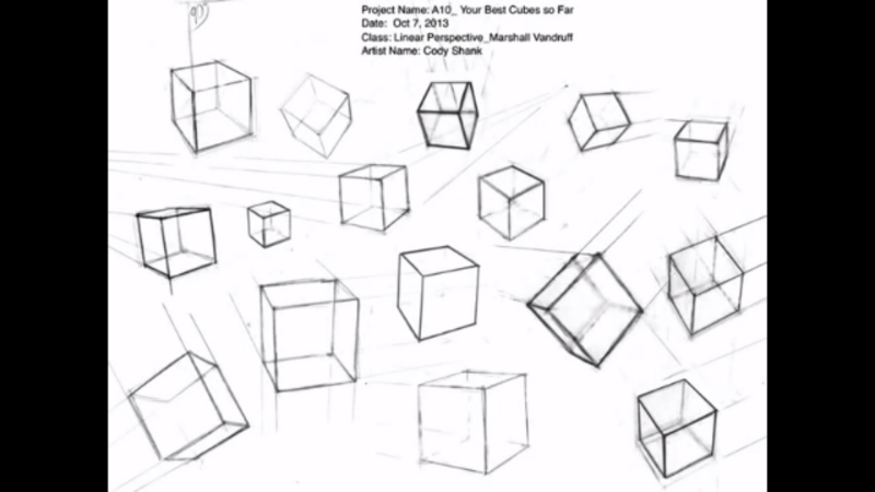 Retirada do vídeo Introduction to Perspective Drawing de Marshall Vandruff