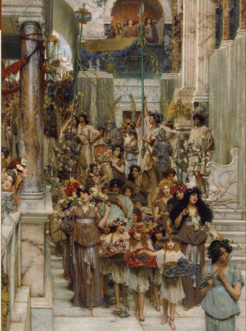 Parte de pintura de Lawrence Alma-Tadema