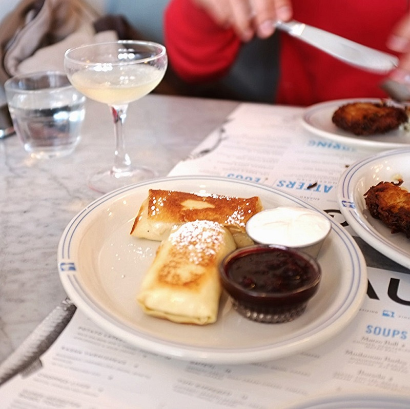 Blintzes at Russ and Daughters