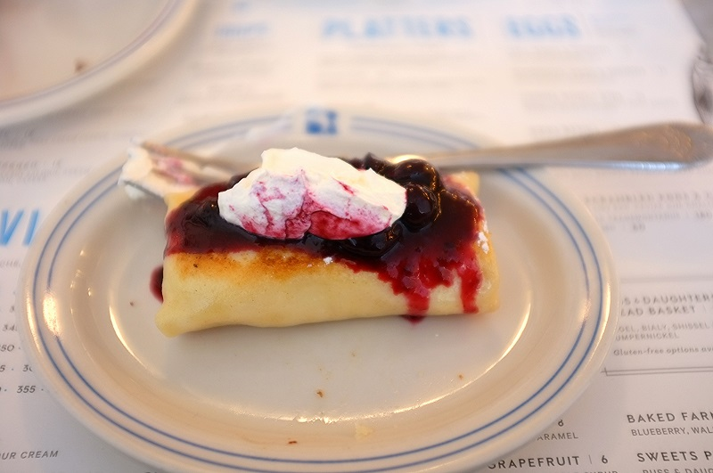 Blintzes at Russ and Daughters 2