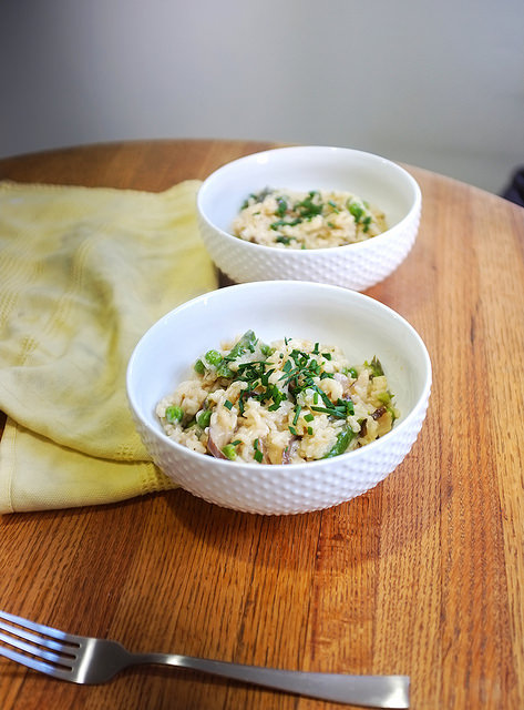 Pea and Asparagus Spring Risotto - Hill Reeves