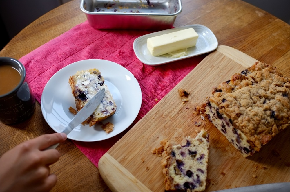 Blueberry Crumb Coffee Cake Loaf - Hill Reeves