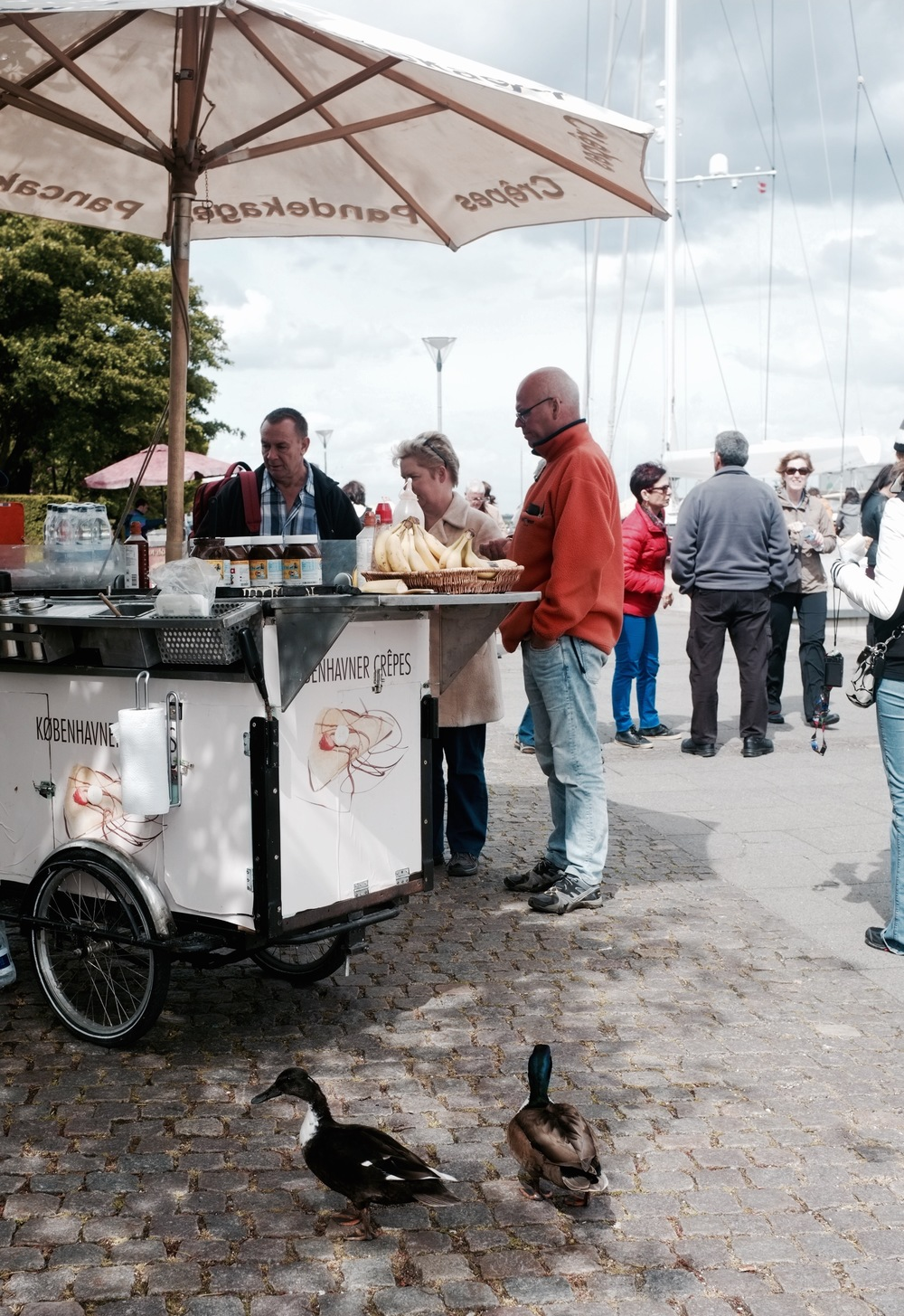Hot Dog Cart in Copenhagen - Hill Reeves