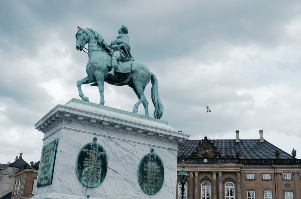 Statue Outside Amalienborg, Copenhagen - Hill Reeves