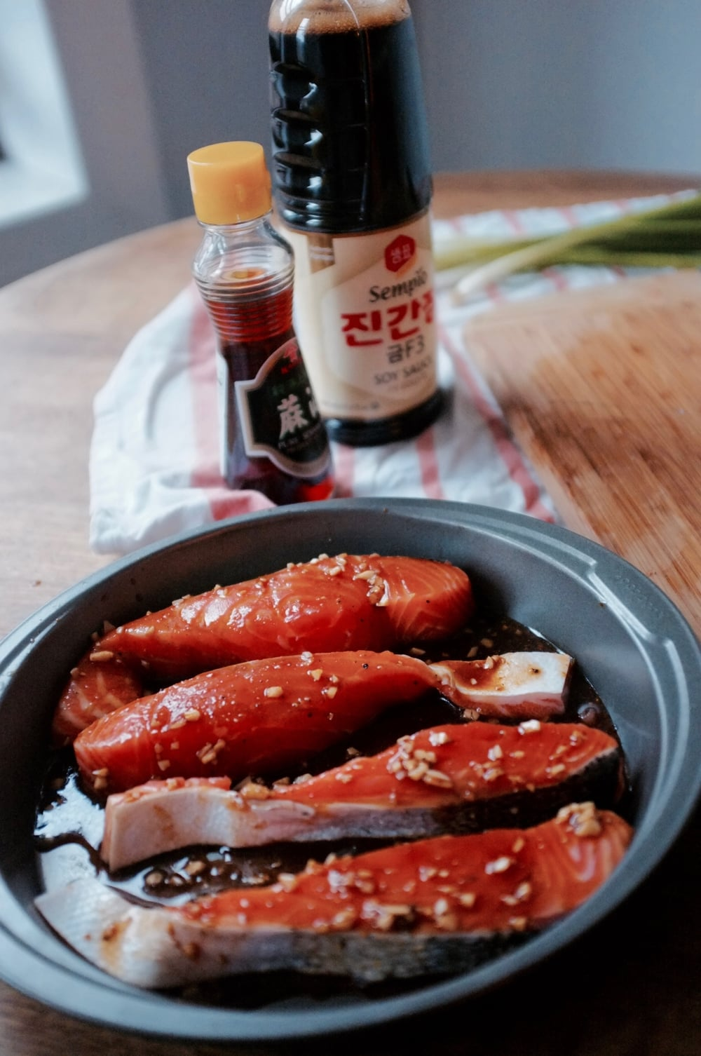 Yang Nyum Salmon ( 양념연어) - Sweet & Spicy Korean Salmon by Hill Reeves