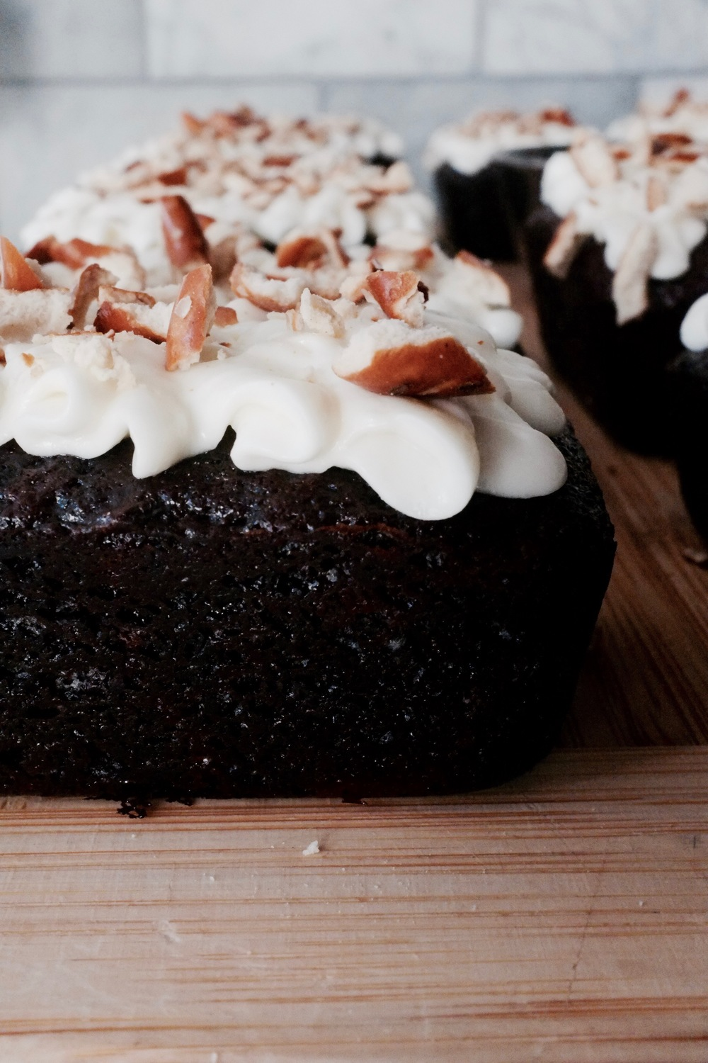 Guinness Cake with Cream Cheese Frosting (And Pretzels!) - Hill Reeves