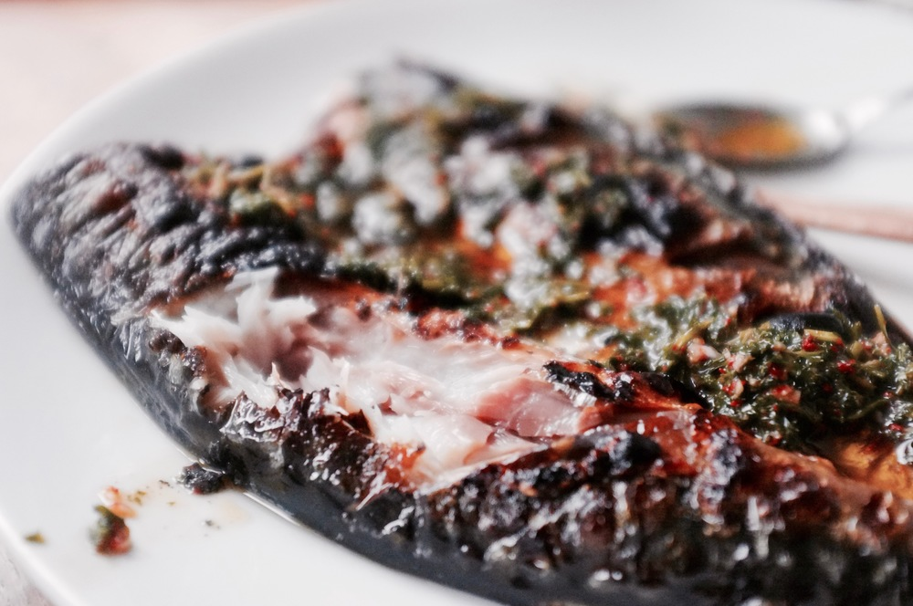 Broiled Mackerel with Korean Chimichurri - Hill Reeves