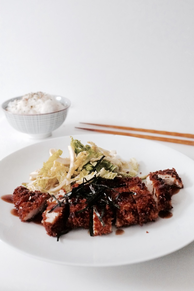 Chicken katsu with cabbage salad - Hill Reeves