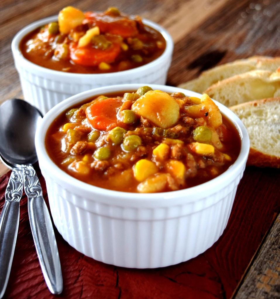 Vegetarian Hamburger Stew