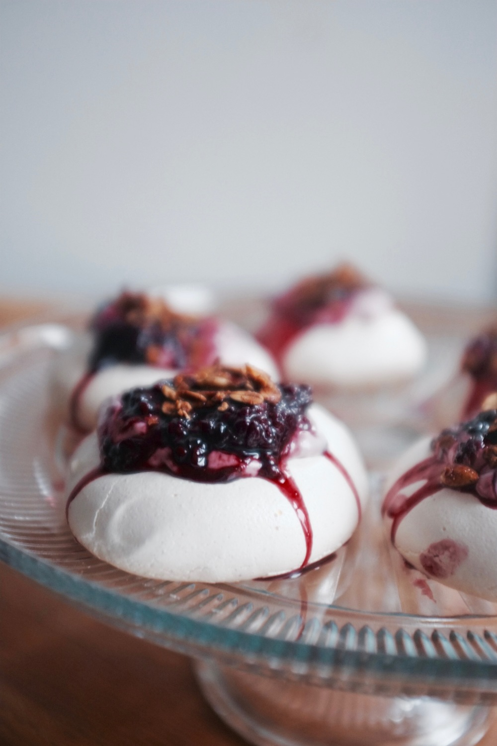 Mini Cardamom Blackberry Pavlovas - Hill Reeves