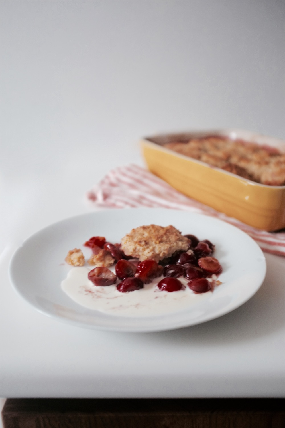 Sour Cherry Cobbler - Hill Reeves
