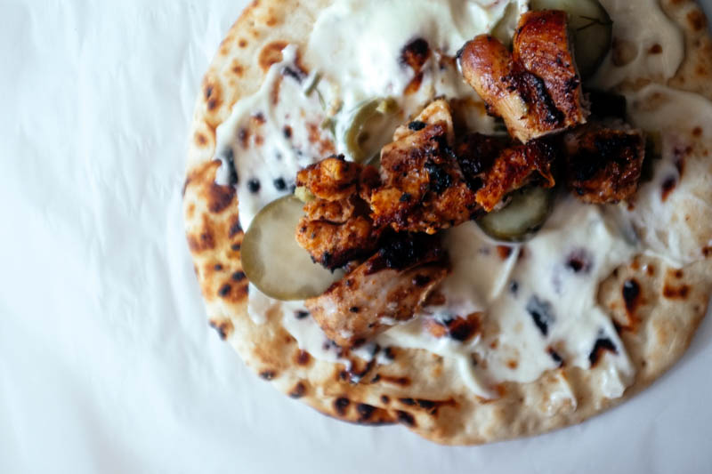 Lebanese Chicken Wraps - Hill Reeves