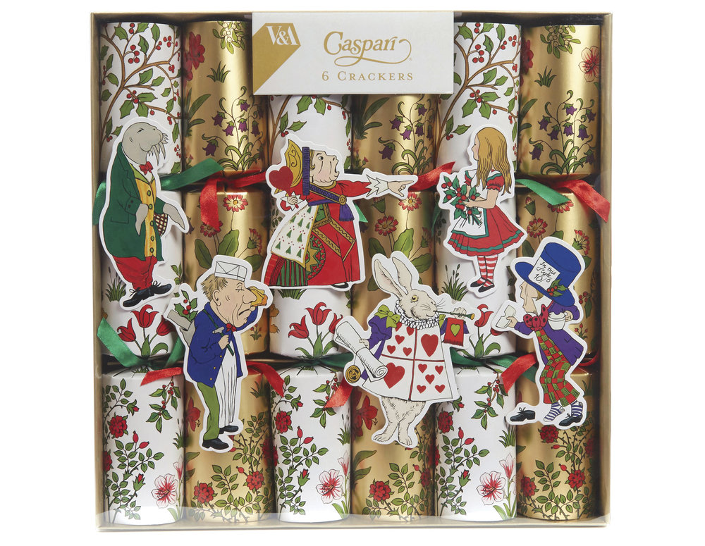 These Christmas crackers were created with artwork licensed from the Victoria & Albert Museum.