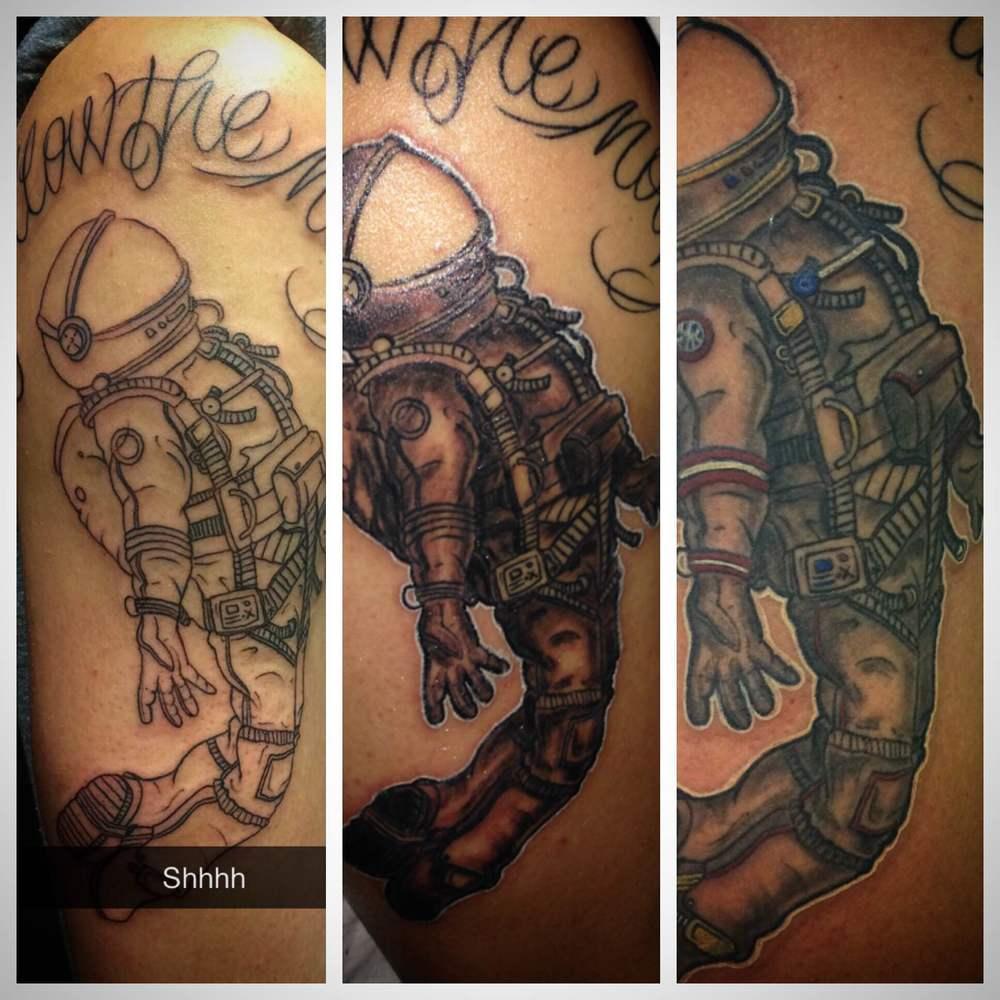 Spaceman Tattoo by Luke Jensen