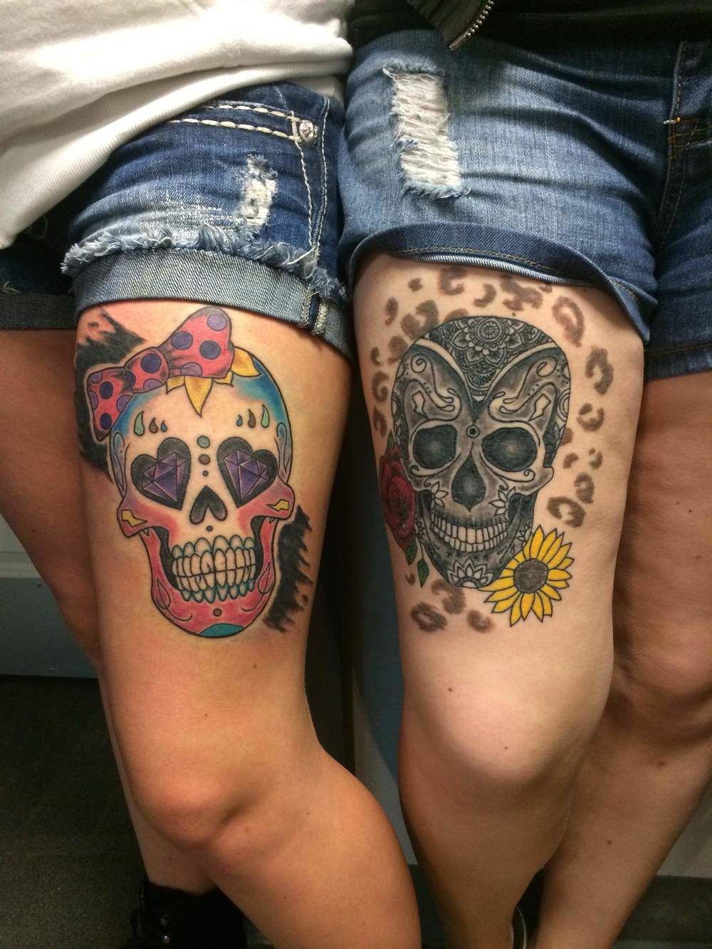 Day of the Dead Faces Tattoo by Luke Jensen
