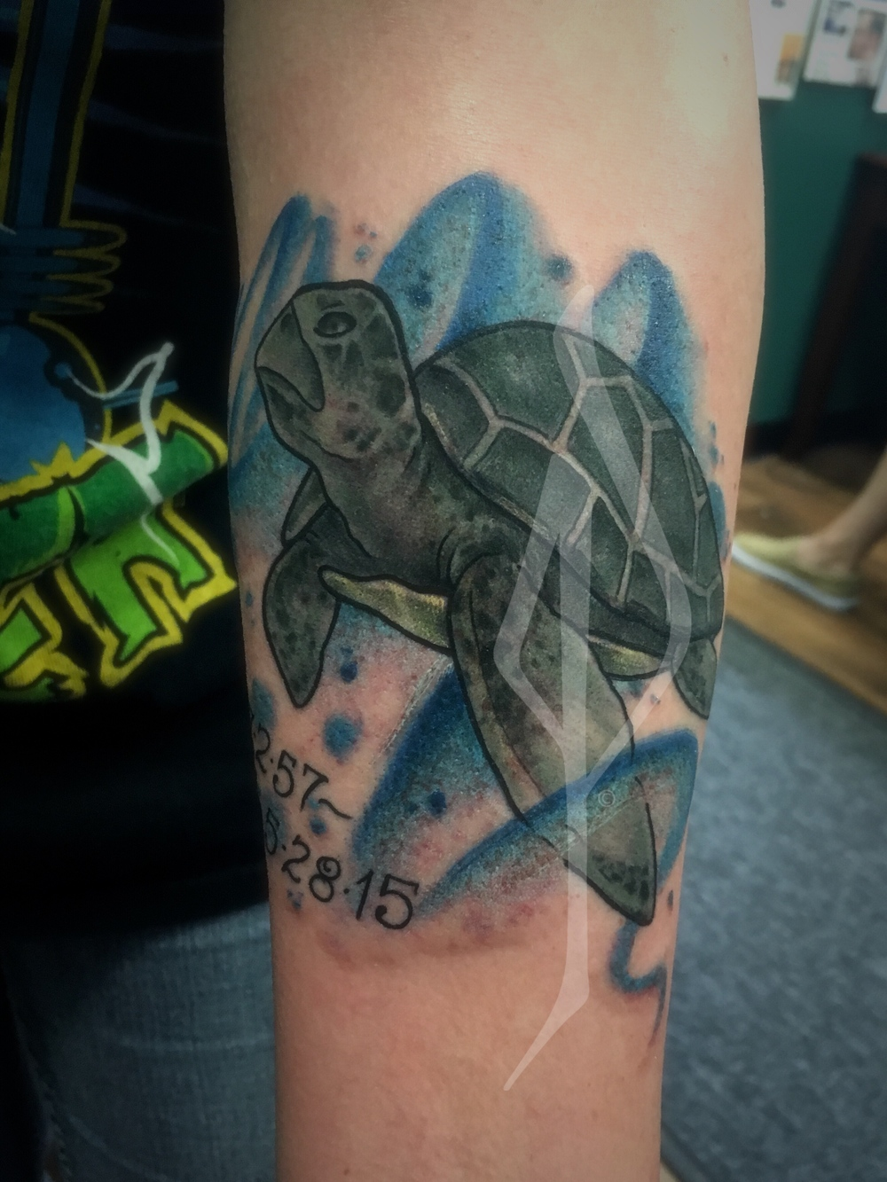 Turtle Tattoo by Jon Poulson - Aloha Salt Lake Tattoos