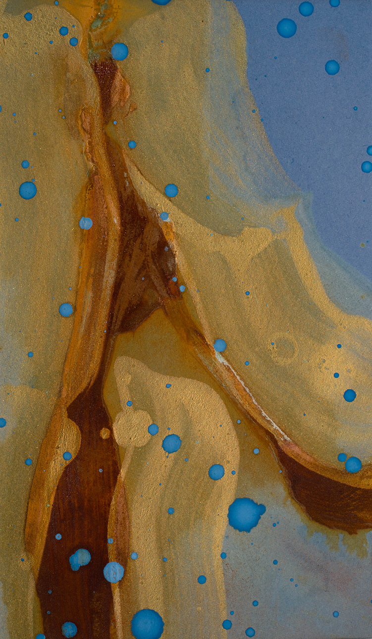 Rust & Gold #044, one of 100 paintings