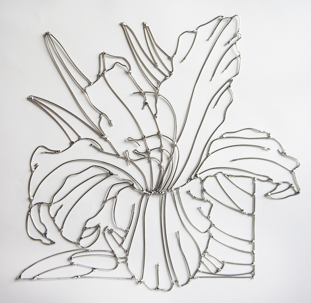 nickel silver wire lily