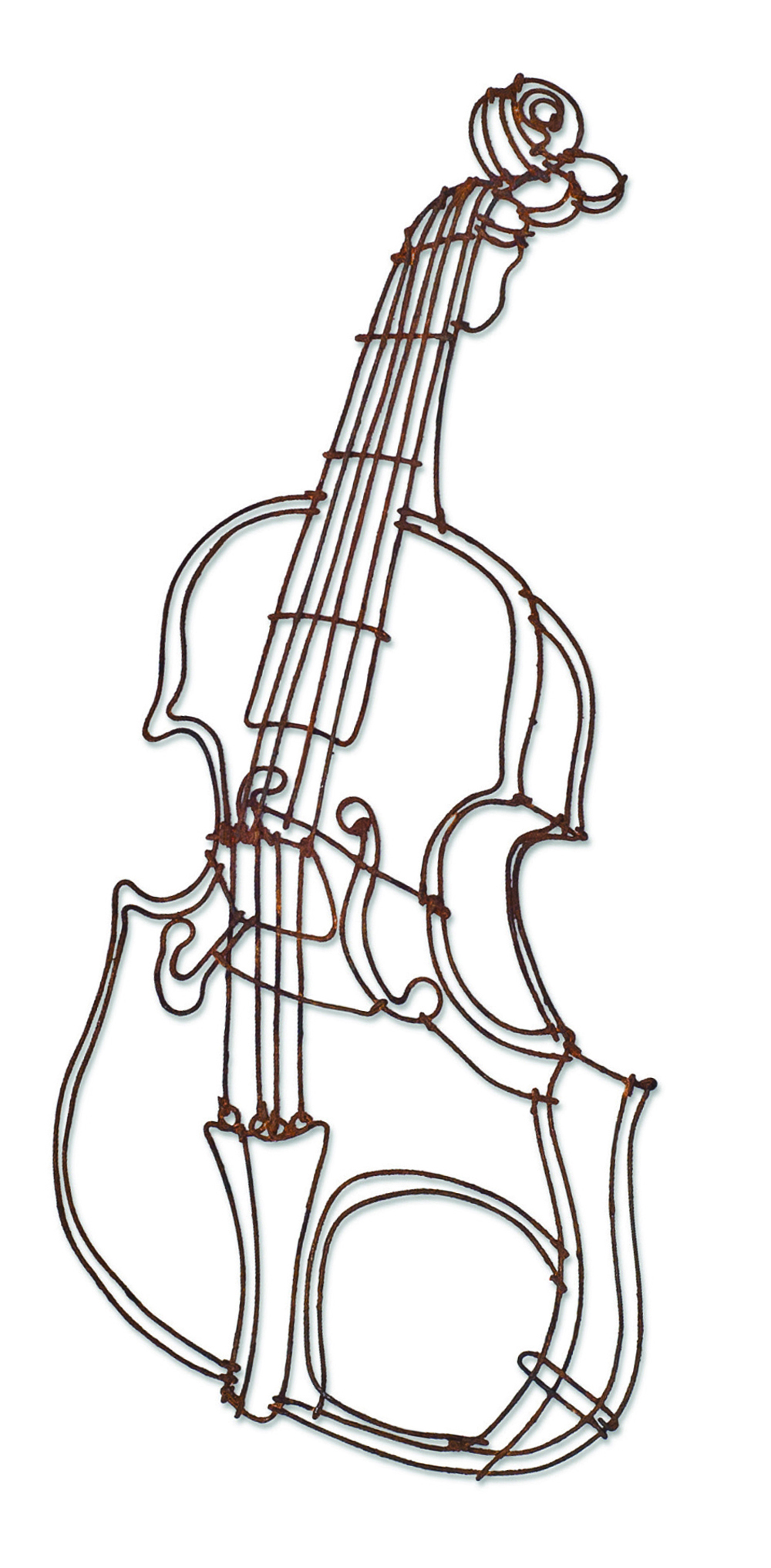 Wire Drawing, Rusted, Violin