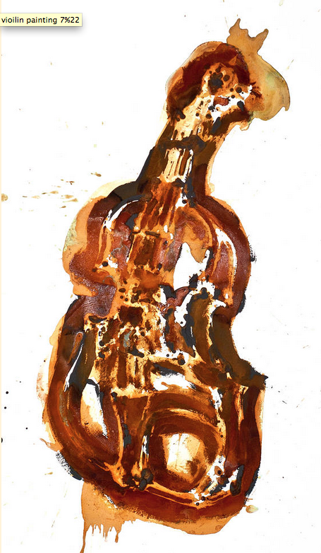 Rust Painting of Violin, by Joel Armstrong
