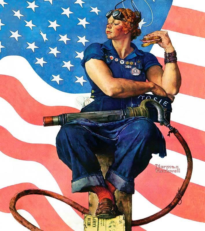 https://www.khanacademy.org/humanities/art-1010/art-between-wars/american-art-wwii/v/norman-rockwell-rosie-the-riveter
